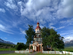 One of Iceland's prettier churches, the 1905 Grund Church is unique because of its onion shaped dome