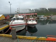 Siglufjörður's colorful harborfront