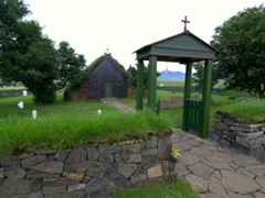 Víðimýri Turf Church (beware the hefty entrance fee). This looked more like a hobbit's house than a church!