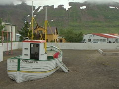 Playground in Suðureyri (can you tell that fishing is big business here?)