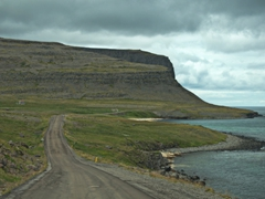 Our scenic drive out to see puffins at Látrabjarg
