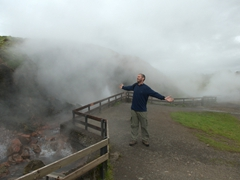 Robby is blown away by Deildartunguhver, reputed to be Europe's most powerful hotspring (180 liters per second)