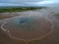 Transparent pool of Blesi; Haukadalur geothermal field (near Geysir)