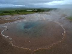 Transparent pool of Blesi; Haukadalur geothermal field (near Geysir)