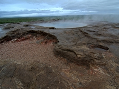 One of the many hot springs at the Haukadalur Geothermal Area