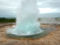 This is what is looks like a second later; Strokkur Geyser