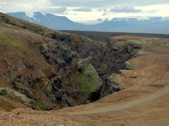 One last look at the rugged terrain surrounding Kerlingarfjöll