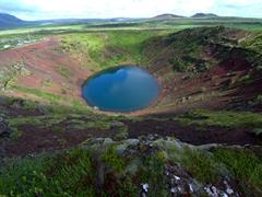 View of Kerið Volcanic Crater