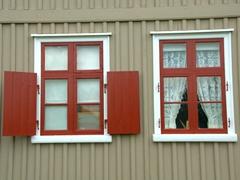 Window frame; Árbæjarsafn Museum