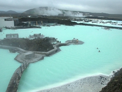 View overlooking the Blue Lagoon from the nearby LAVA Restaurant