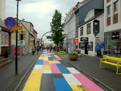 Laugavegur is Reykjavik's oldest shopping street