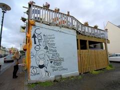 Reykjavik corner cafe