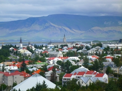 One of the best views of Reykjavik can be seen from the upper level of Perlan