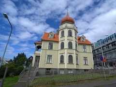 Reykjavik has a wide range of architecture...we really liked this onion domed house