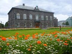 "Parliament House (""the Alþingishús"") in Reykjavik"