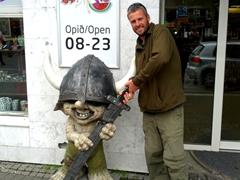 Robby steals the troll viking's sword; Reykjavik