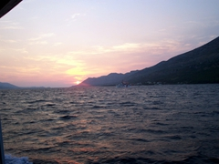 Korcula sunset, evening SCUBA trip