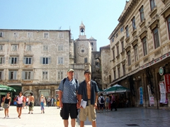 Bob and Luke chilling in Split