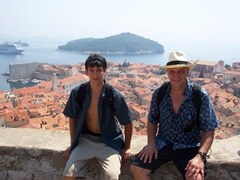 Luke & Bob take a breather on Dubrovnik's city walls
