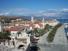 Bird's eye view of Trogir