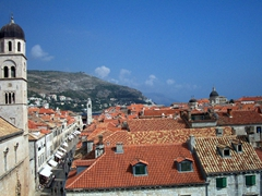 View from city wall, Dubrovnik