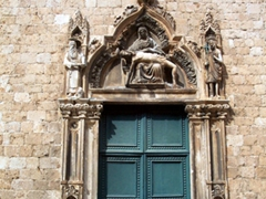 Church portal, Dubrovnik