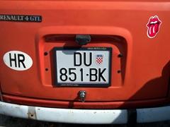 A Dubrovnik license plate