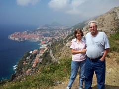 Laverne & Bill with Dubrovnik backdrop
