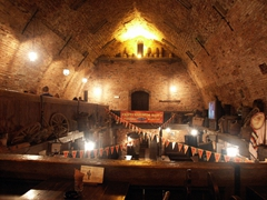 An old bunker restaurant in Tartu