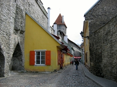 Although extensively bombed by the Soviets during WWII, old Tallinn retains much of its medieval charm