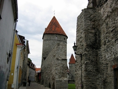 One of the 66 guard towers in the medieval section of Tallinn