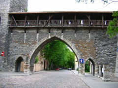 Medieval Tallinn enjoyed a strategic position at the crossroads of trade between Western and Northern Europe and Russia. The city, with a population of 8,000, was very well fortified with city walls and 66 defence towers. The wall is visible even today