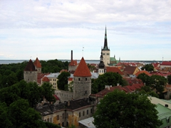 Tallinn skyline as seen from Toompea Hill