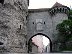 Gate opening in the old city wall, Tallinn