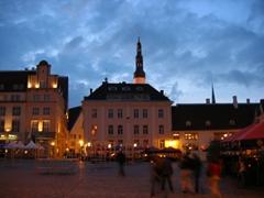 Midnight light, Tallinn city center
