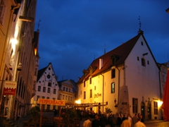 Restaurants in the old town; Tallinn