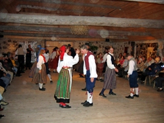 Traditional Estonian dancing; Rocca al Mare Estonian Open Air Museum