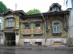 An old style Estonian wooden house; near Kadriorg Park