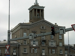 The only Stalin style building we saw in Tallinn, which escaped the multi-tier wedding cake Stalinist style buildings that cropped up in other capital cities (Warsaw and Riga). This is just a residential building that is visible from the the Toompea hill lookout point