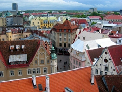 View of the historic center of Tallinn, a UNESCO world heritage site
