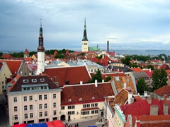 Climb the Town Hall for a fantastic view over Tallinn