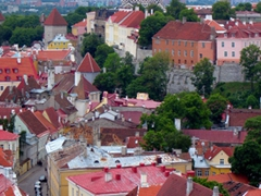 View of Alexander Nevsky Cathedral up on Toompea Hill