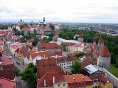 The medieval city of Tallinn still retains its original city walls and guard towers