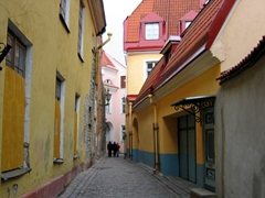 Colorful section of old Tallinn