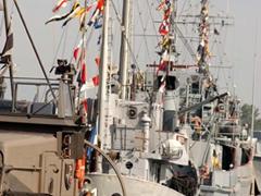 "Estonian navy in the Tallinn harbor during ""Rescuer/Medcuer"" exercise"