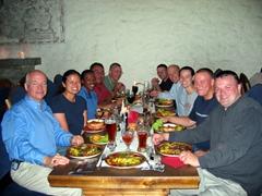 Group dinner, Peppersack restaurant, Tallinn