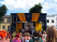 Music concert at a small festival in Pärnu