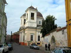 St Nicholas Orthodox Church is built within the city walls of Tallinn