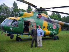 Jurek & Becky beside his rescue helo