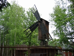 A farm windmill at Seurasaari Open Air Museum